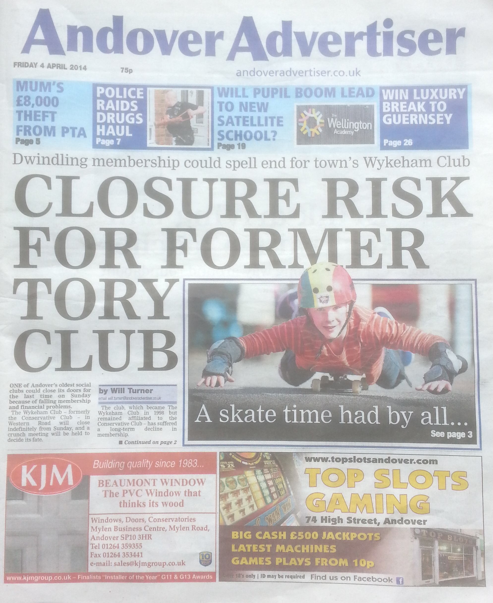 andover advertiser front page