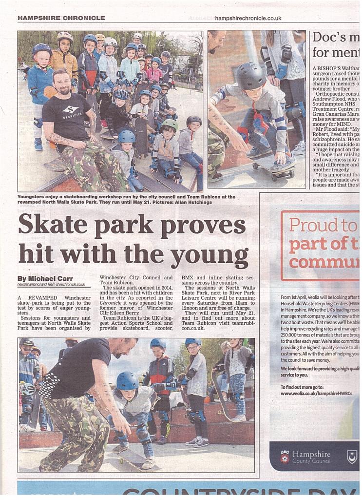 hampshire chronicle team rubicon skateboard school 2